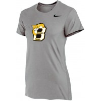 Bethany 12: Nike Women's Legend Short-Sleeve Training Top - Gray